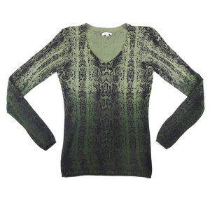 Buffalo Bitha Snake Print Fine Knit Sweater  EUC